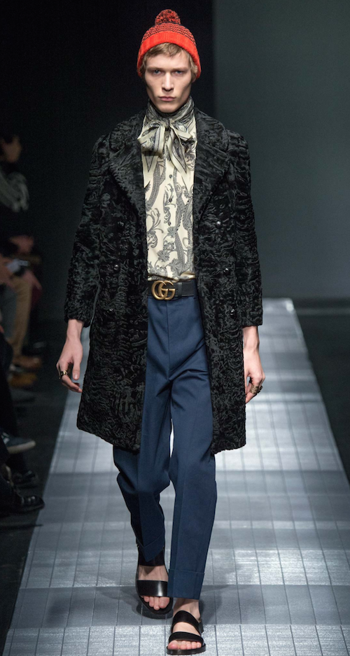 Gucci menswear AW15 silk shirt