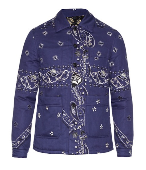 Burberry Prorsum paisley quilted jacket