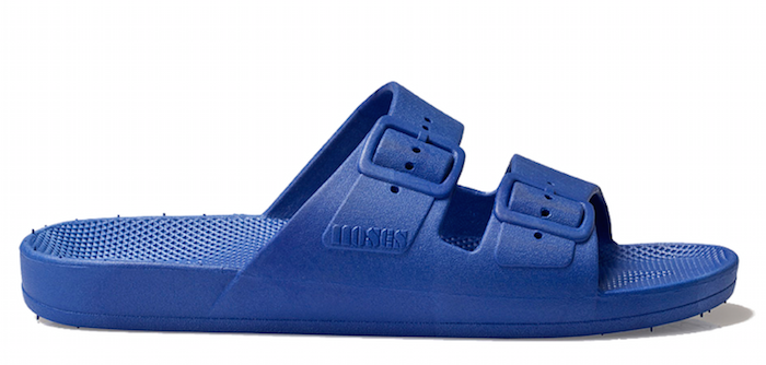Blue moses plastic slider sandals