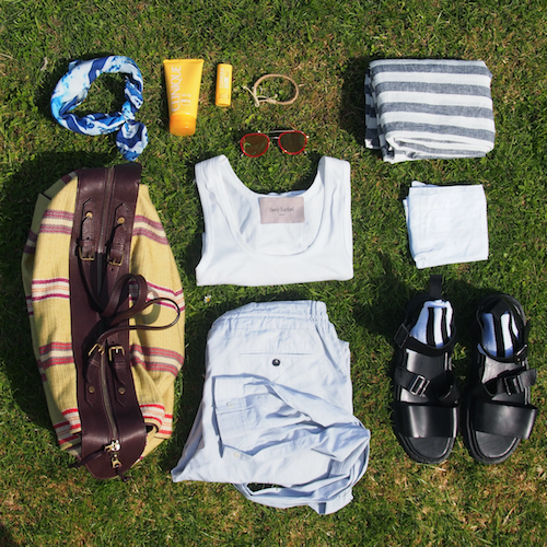 ootd male blogger flat lay