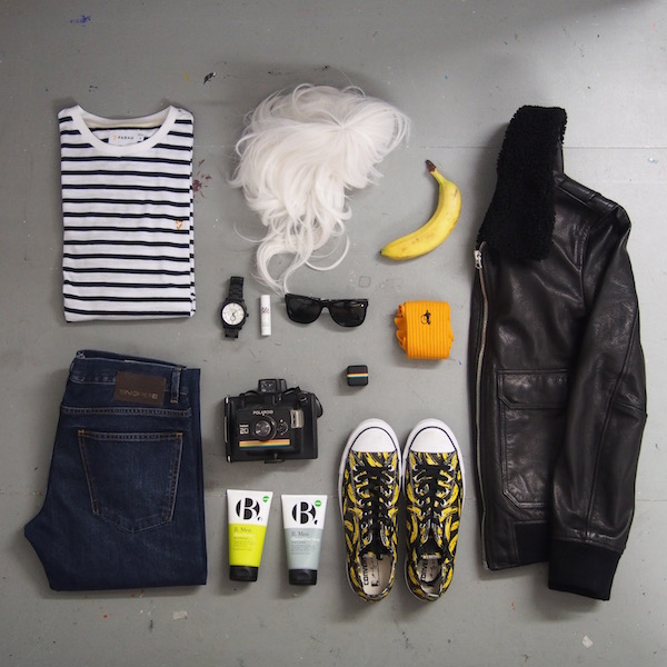 ootd flatlay menswear andy warhol the chic geek