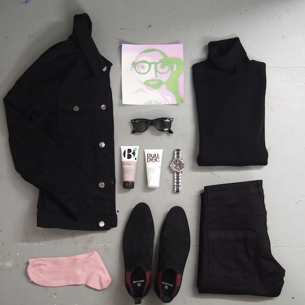 warhol geek flatlay menswear style the chic geek