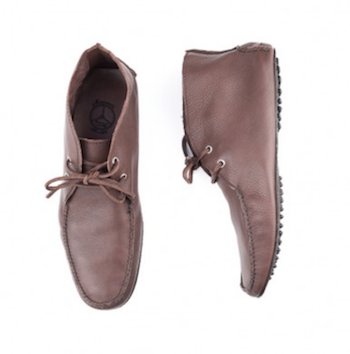 Miserocchi Brown Camel Leather Ankle Boots