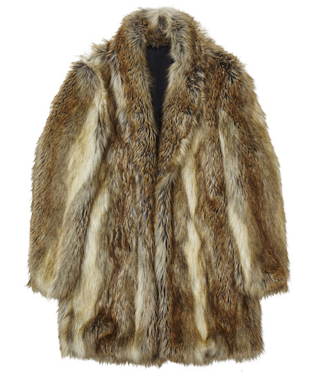 ASOS mens faux fur coat chewbacca