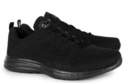 Black trainers sneakers APL menswear