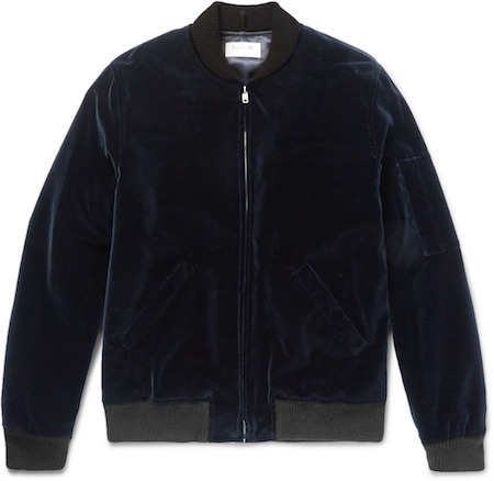Velvet bomber jacket APC Paris Mr Porter