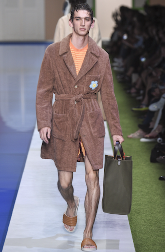 menswear trends spring 2017 fendi towelling coat