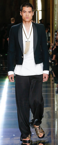 menswear trends new evening wear balmain