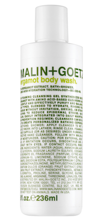 bergamot body wash malin goetz