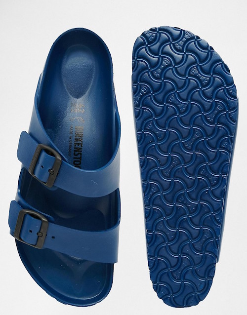 plastic blue birkenstock sandals the chic geek