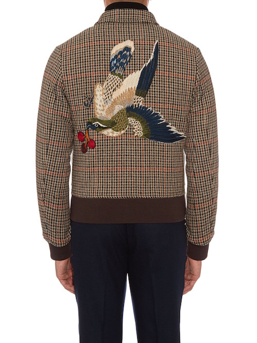 bird jacket gucci menswear the chic geek 2016