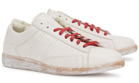Distressed white trainers Maison Margiela Harvey Nichols