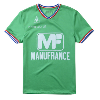 Green Manufrance Football Strip Le Coq Sportif