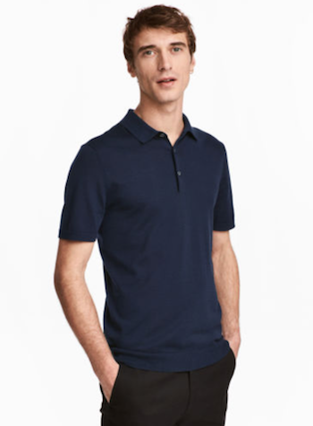 knitted silk polo shirt H&M The Chic Geek