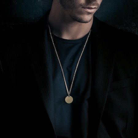 men's medallion necklaces silk shirts Alex Orso men's jewellery