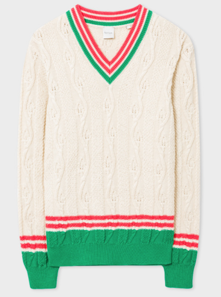 Paul Smith knitwear cricket jumper