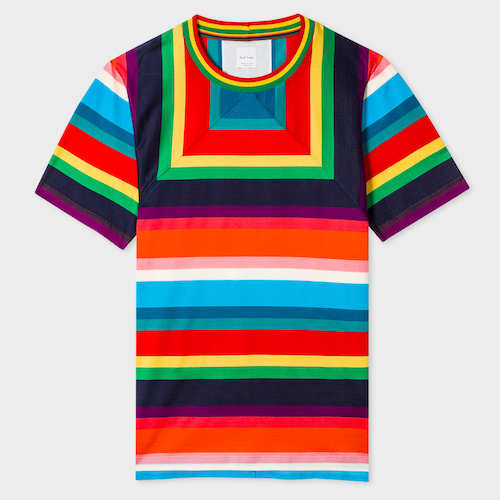 Paul Smith rainbow t-shirt menswear the chic geek
