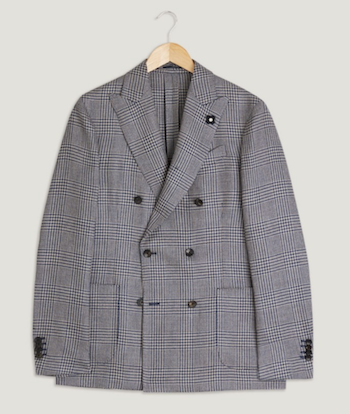 Lardini Prince of Wale check jacket SS18 Trunk Clothiers Menswear