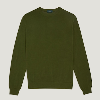 Zanone green sweater knitwear SS18 Trunk Clothiers Menswear