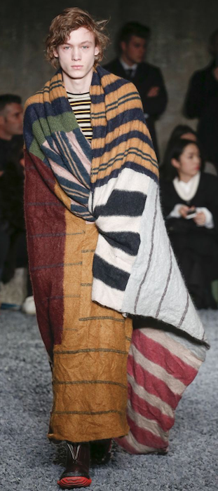 AW18 menswear trends Milan Marni blanket coat