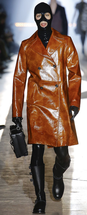 AW18 menswear trends Milan Moschino shiny coat