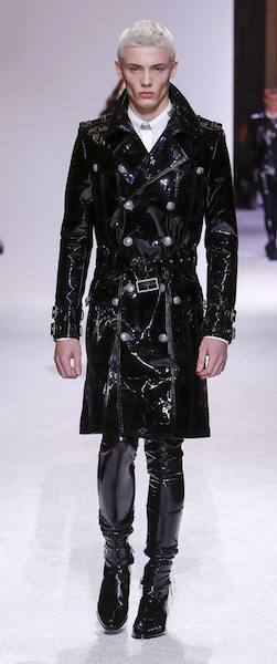 AW18 menswear trends Paris Balmain PVC