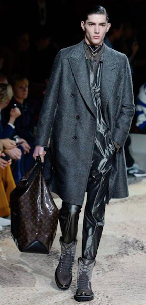 AW18 menswear trends Paris Louis Vuitton leather trousers business
