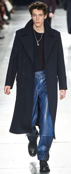 AW18 menswear trends Paris paul smith leather trousers business