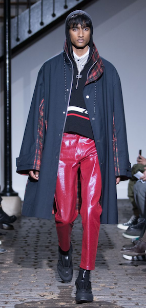 AW18 menswear trends Paris CMN SWDN PVC
