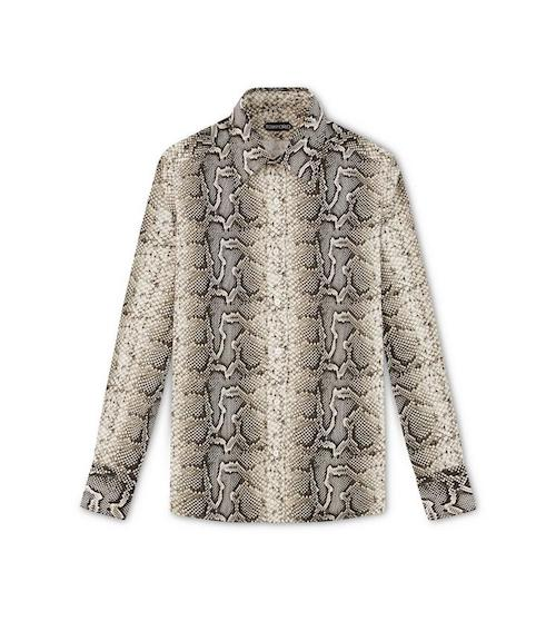 Men's fashion trends snakeskin shirt Tom Ford