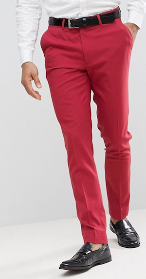Get The Look Menswear Wild Wild Country ASOS red trousers'