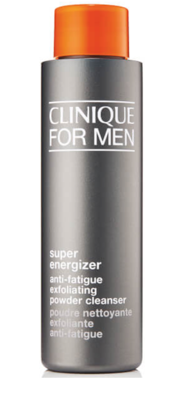 Review Clinique For Men Super Energizer Anti-Fatigue Exfoliating Powder Cleanser men's grooming expert