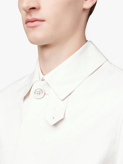 Maison Margiela White Mackintosh Men's Coat