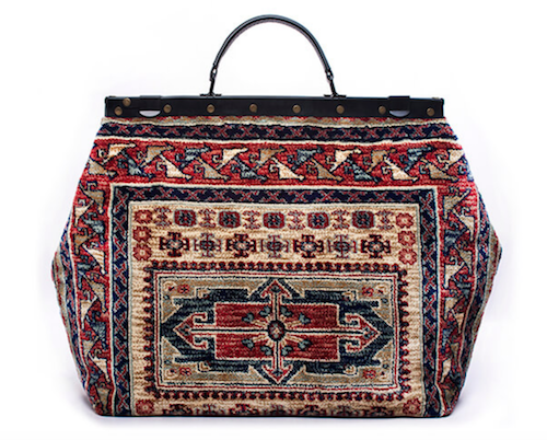 Men's accessory trend carpet bags