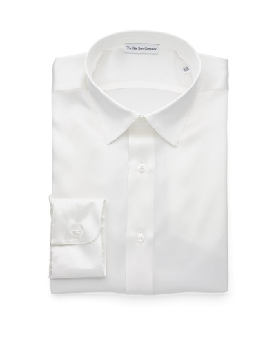 White Shirt Silk The Silk Shirt Company