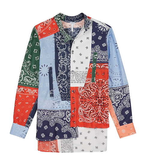 return of the shirt Loewe Harvey Nichols patchwork