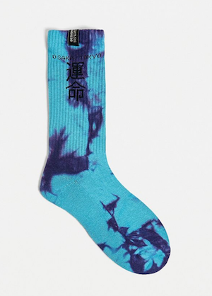 tie dye menswear socks sports Urban Outfitters