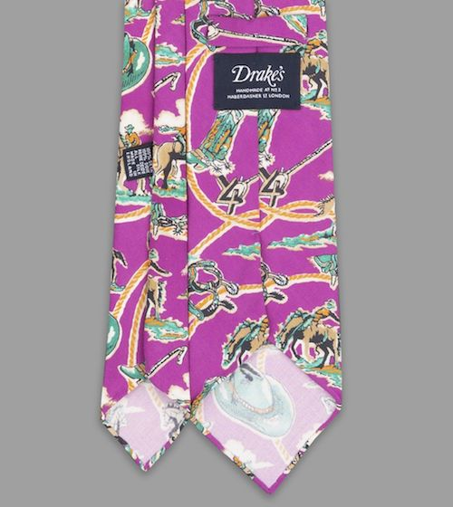 menswear product of the week drake's silk rodeo cowboy neck tie