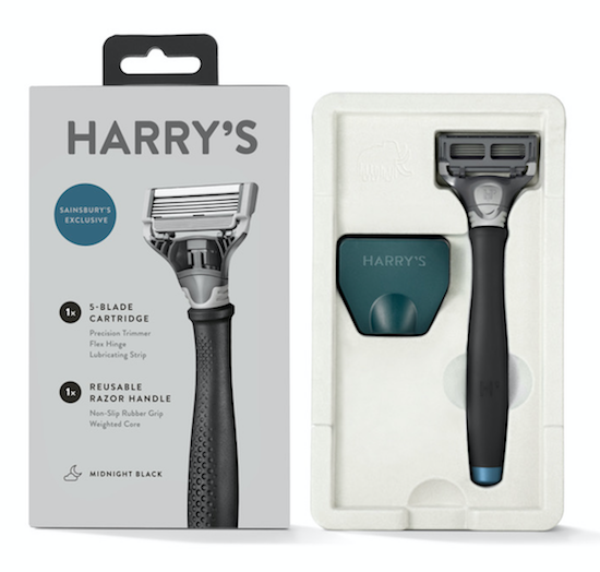 harrys new black razor