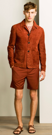 Gieves & Hawkes suede jacket SS16