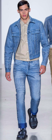 calvin klein denim menswear trends milan