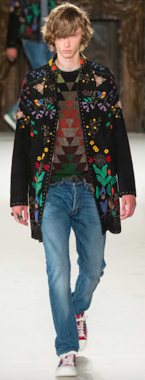spring summer 2016 menswear trends valentino hippy flowers