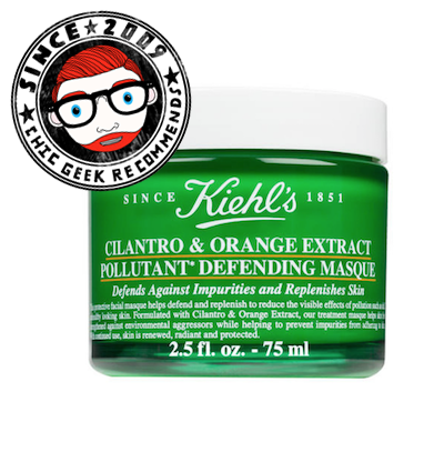kiehl's cilantro orange masque review the chic geek beauty