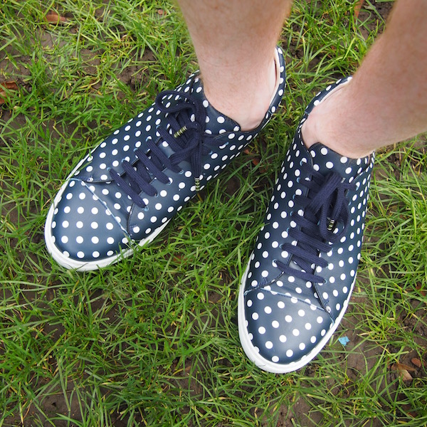 louis leeman polka dot sneakers trainers
