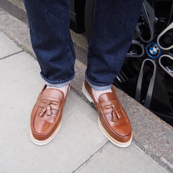 shoes tasselled loafers russell bromley ootd the chic geek blogger