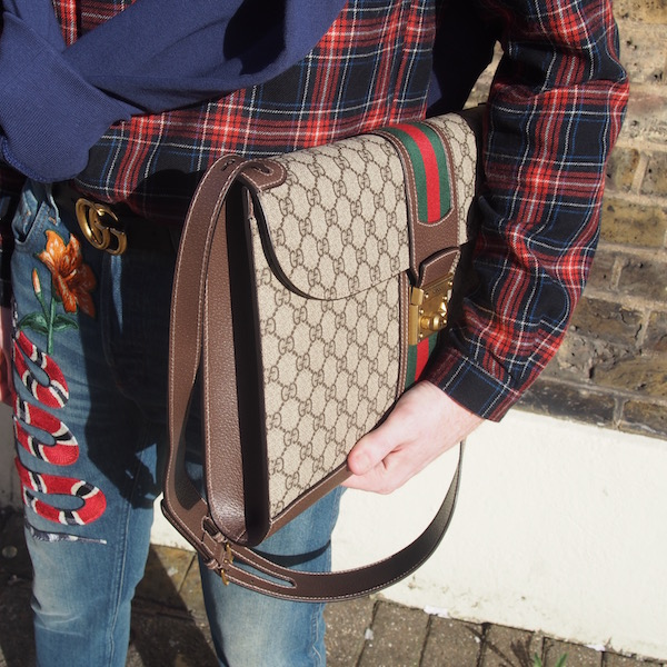 bag gucci monogram the chic geek fashion style