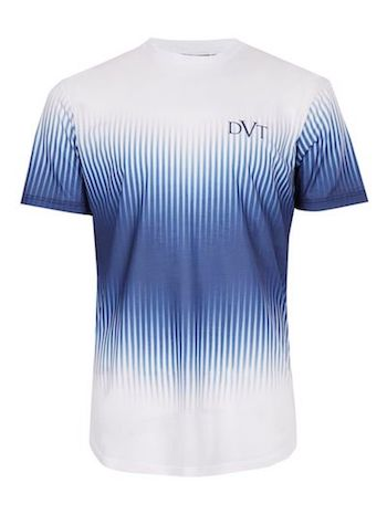 Devote Topman football shirt blue white