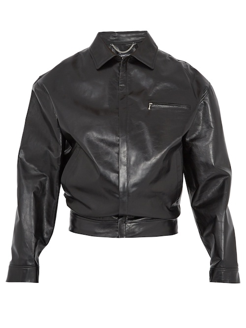 Balenciaga wobble jacket black vinyl Menswear