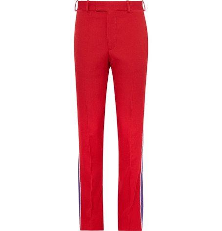 Calvin Klein Collection 205W39NYC red trousers