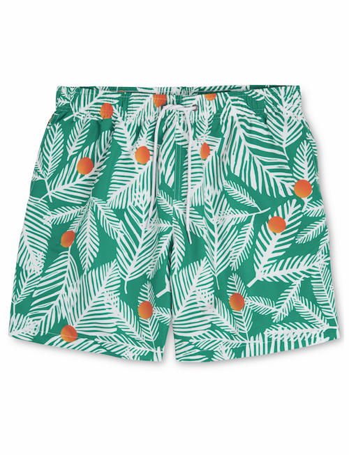 whistles x Boardies palm print swim shorts